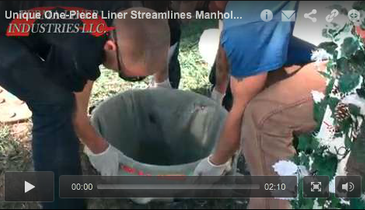 Unique One-Piece Liner Streamlines Manhole Rehab