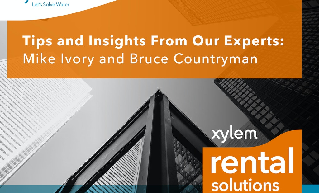 A Conversation with Xylem's Rental Experts at WEFTEC 2019