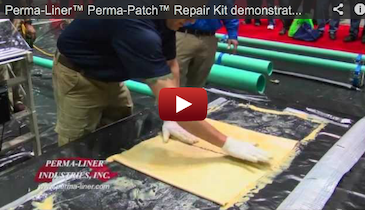 Perma-Liner™ Perma-Patch™ Repair Kit demonstration - 2012 Pumper & Cleaner Expo