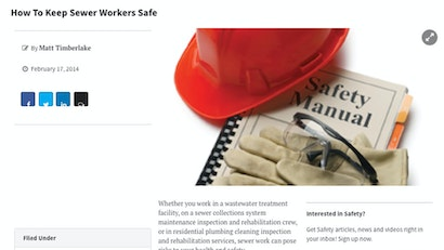 How to Keep Sewer Workers Safe