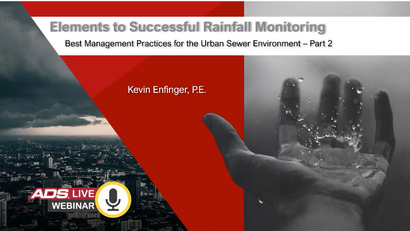 Elements to Successful Rainfall Monitoring – Best Management Practices for the Urban Sewer Environment PART 2