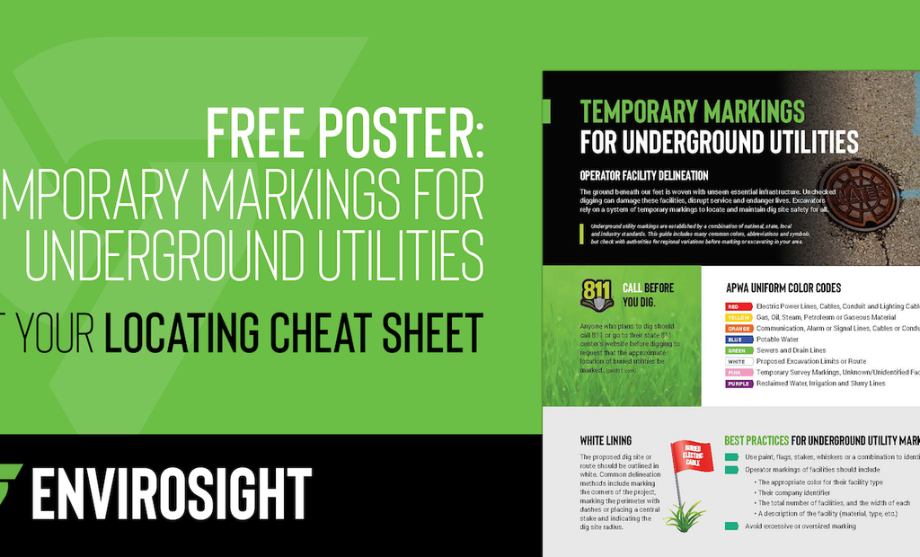 Free Poster: Temporary Markings for Underground Utilities
