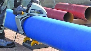 Exact Pipe Tools portable pipe saw
