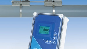 Greyline Instruments clamp-on ultrasonic flowmeter