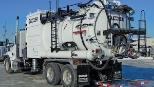 Industrial Vacuum Trucks - Guzzler CL dense phase off-load option