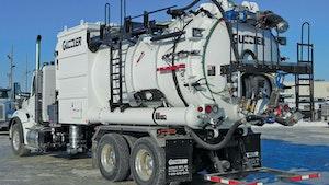Industrial Vacuum Trucks - Guzzler Mfg. CL dense phase off-load option