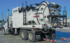 Industrial Vacuum Trucks - Guzzler Mfg. CL dense phase off-load option