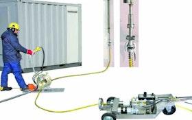 Waterblasting - High-pressure hose rotating system