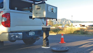 Detailed manhole inspection and 3-D scan in under a minute with RST Helix