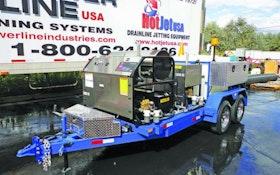 Hot Jet USA trailer-mounted jetter