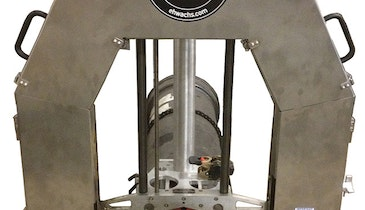 DW Guillotine pipe saw provides clean, safe cuts