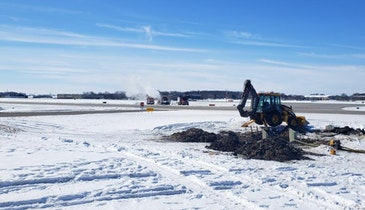 What Happens When a Water Main Breaks Under an Airport Taxiway?