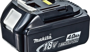 18V Lithium-Ion Batteries Offer Longer Run Time, Faster Charge