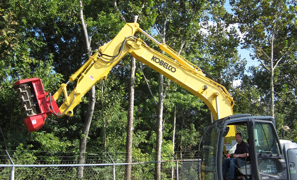 Excavator-Mounted Mulcher Keeps Fencerows Clear for Cincinnati MSD
