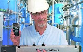 Noncontact Meters portable ultrasonic flowmeter