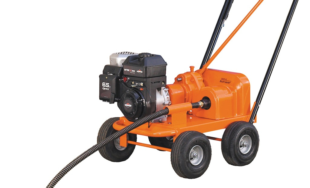 Gas-Powered Drain Cleaner Blasts Large Lines And Long Runs