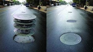 Manhole Rehabilitation - Plate Locks Wiser Riser