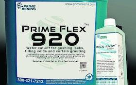 Infiltration and Leak Prevention - Prime Resins Prime Flex 920