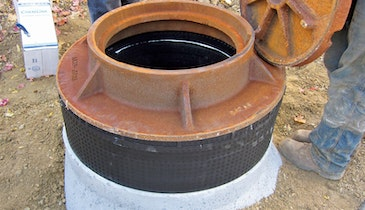 Cretex provides a lighter option for manhole grade adjustment