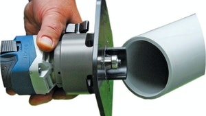 Reed Manufacturing Co. cordless power pipe beveler
