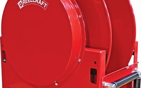 Reelcraft's spring-retractable high-capacity hose reels