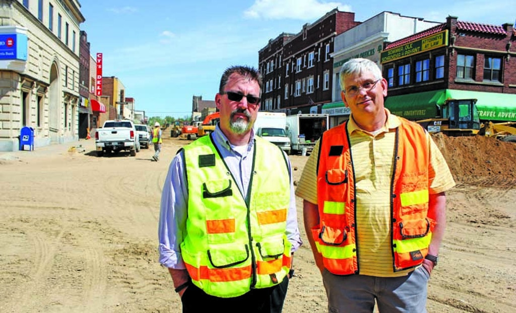 Rebuilding a Downtown's Infrastructure