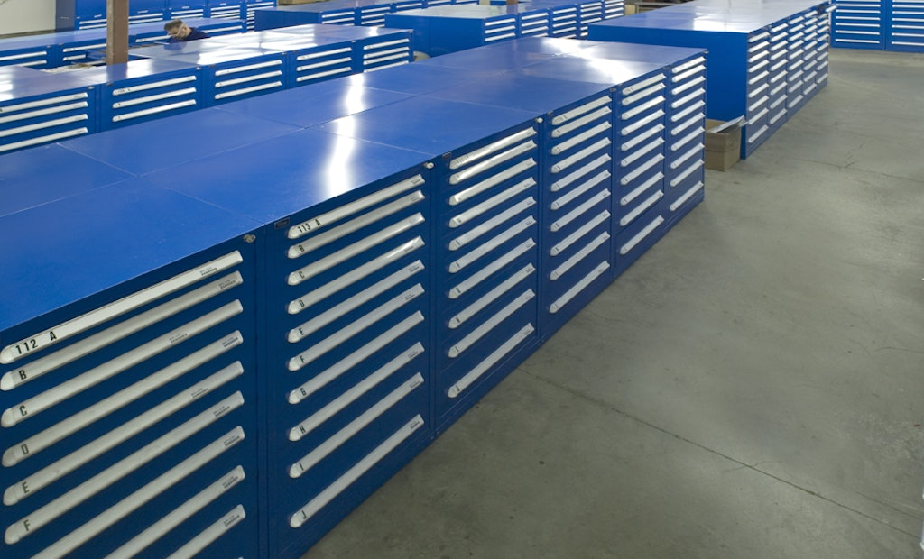 Stanley Vidmar Modular Drawer Cabinets Increase Capacity and Allow Optimum Access