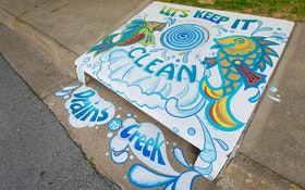 Artful Storm Drains Spread the Message about Water Pollution