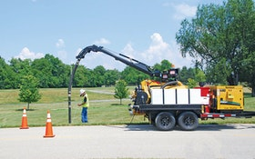 Vac-Tron Equipment six-way hydraulic boom