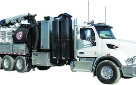 Vactor hydroexcavator with Peterbilt option