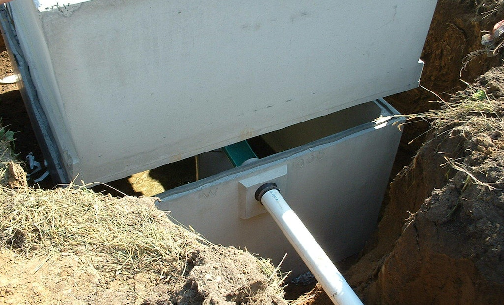 Joining Seams on Septic Tanks