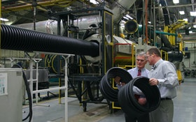 Ohio congressman tours ADS pipe manufacturing plant