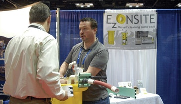E Z Onsite Markets A Self-Cleaning Pump Vault At The WWETT Show
