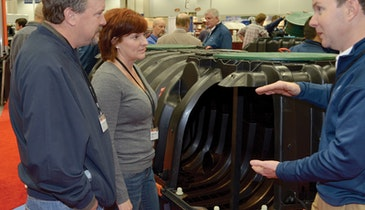 Injection-molded, two-piece tank captures Expo interest