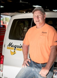 Maguire Backhoe Meets Tough Onsite Challenges
