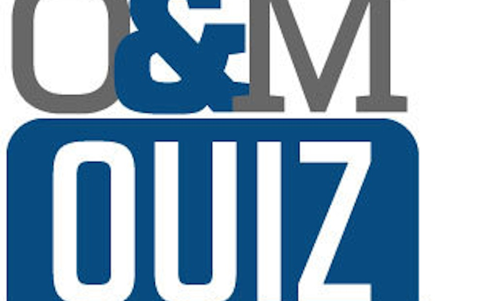 Operations and Maintenance Quiz 4 – Answers