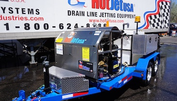 HotJet II Trailer-Mounted Jetters Now Shipping with Hydraulic Reels and Fuel Injection Options