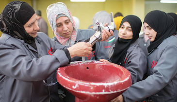 Training Program for Women Helps Middle Eastern Country Battle Plumbing Problems