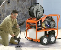 Powerful Water-Jet Drain Machine Provides High Water Flow Without a Trailer