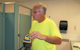 Electronic Level Helps Contractor Keep Installations Straight