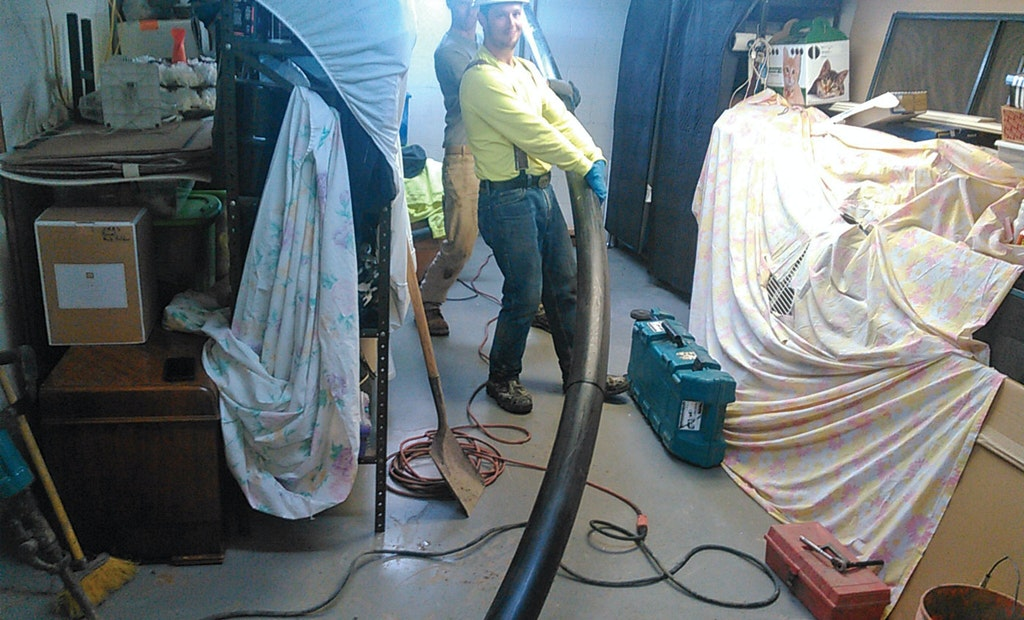 Plumbing Contractor Uses Vacuum Excavator to Help Get New Pipe In