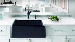 Blanco's Durable Granite Composite Apron Sink Offers Rustic Look