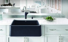 Blanco's Durable Granite Composite Apron Sink Offers Rustic Look