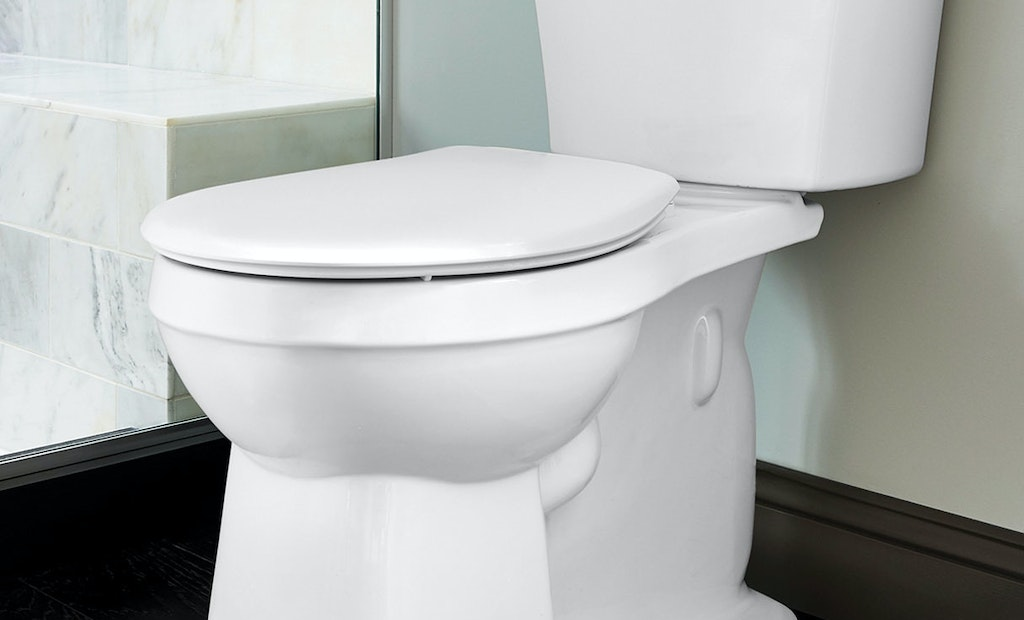 Toilet features a modernized look