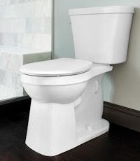 Toilet features a modernized look