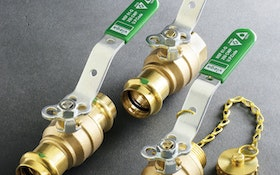Viega ball valves a fit for potable water systems