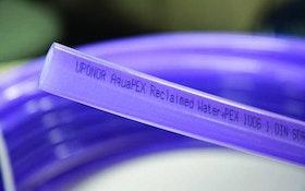 Uponor purple PEX pipe