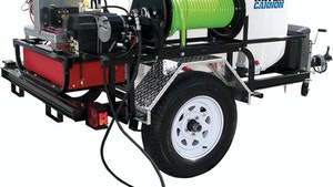 Water Cannon Inc. - MWBE two-wheel commercial jetter trailer