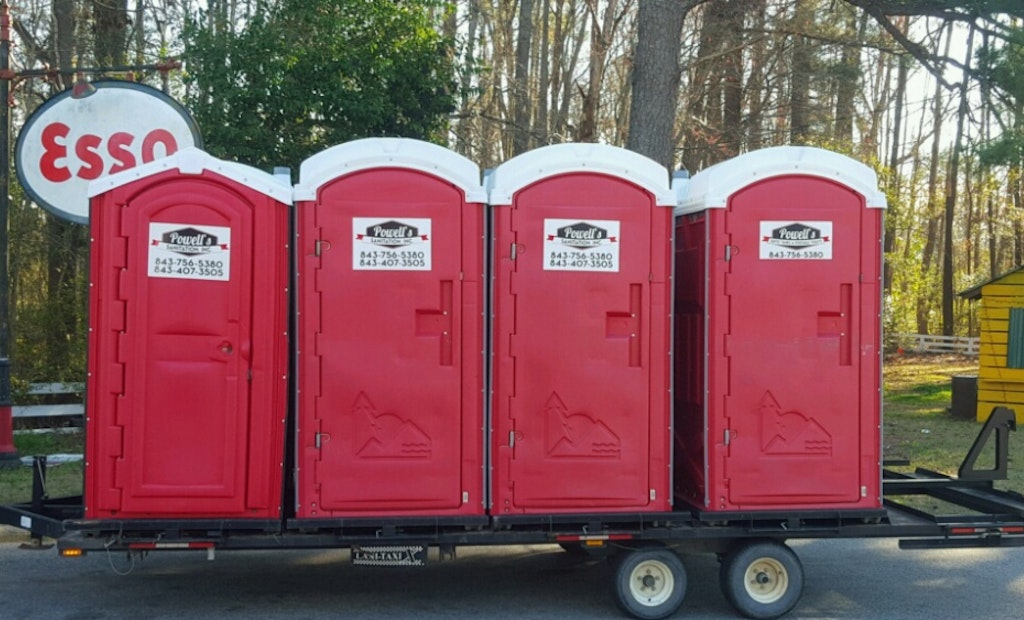 Portable Restroom Transport Trailers Go Strapless