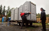 Torrential Downpours No Match for Washington Portable Restroom Operator